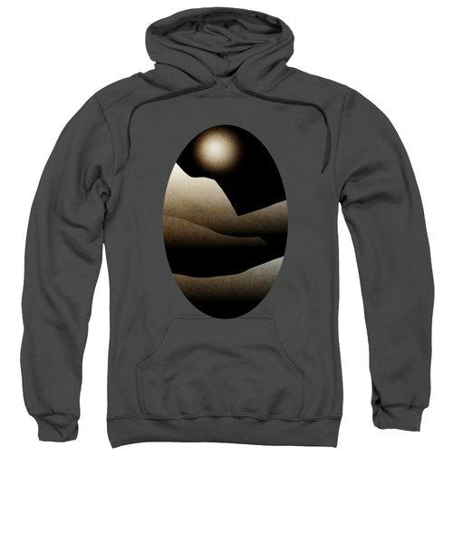 Mountain Moonlight Landscape Art Sweatshirt