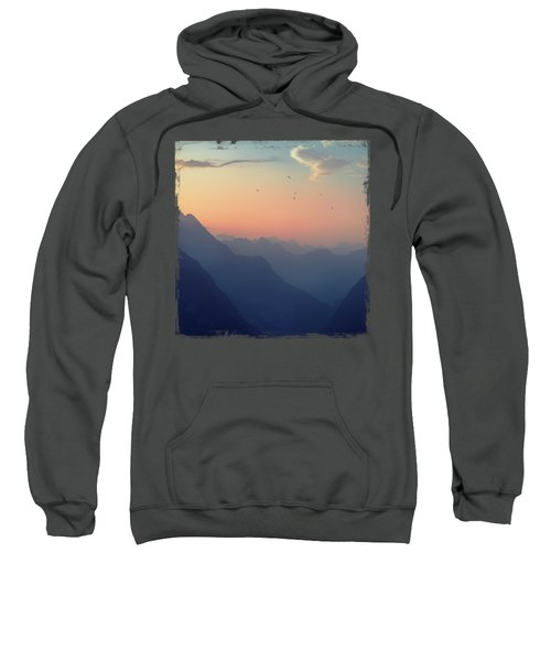Mountain Sunrise - Pastel Alps Sweatshirt