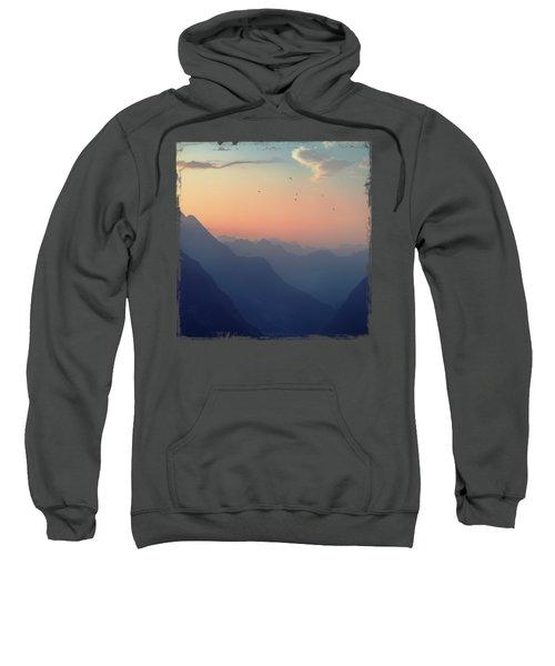 Mountain Sunrise - Pastel Alps Sweatshirt