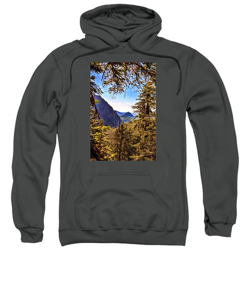 Sweatshirt featuring the photograph Mountain Views by Anthony Baatz