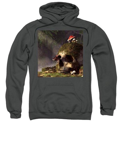 Mouse In A Skull Sweatshirt