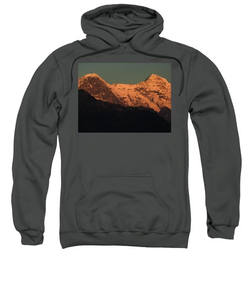 Mt. Eiger And Mt. Moench At Sunset Sweatshirt