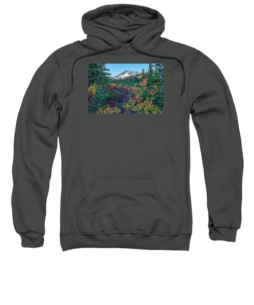 Mt Rainier With Autumn Colors Sweatshirt