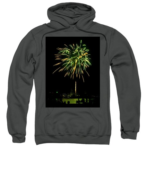 Sweatshirt featuring the photograph Murrells Inlet Fireworks by Bill Barber
