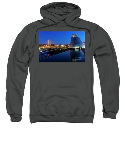 Museum Of Glass At Blue Hour Sweatshirt