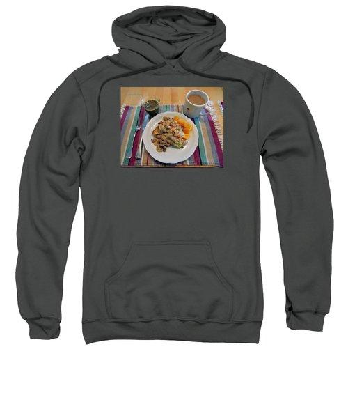 Mushroom Gravy Over Breakfast Quiche  Sweatshirt