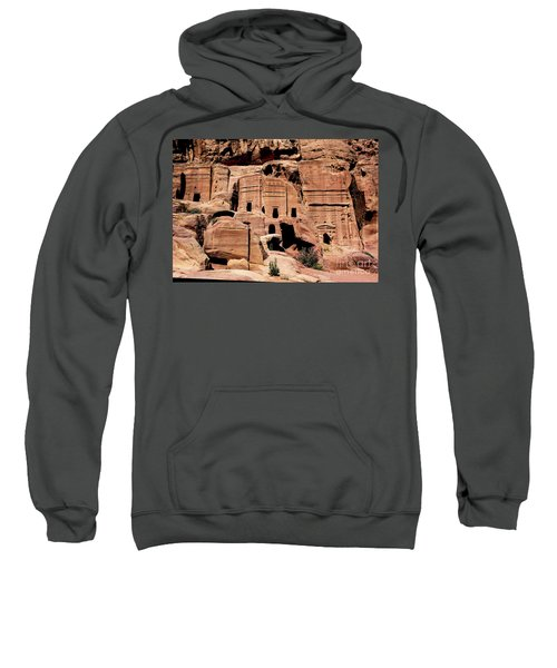 Sweatshirt featuring the photograph Nabataeans' City by Mae Wertz
