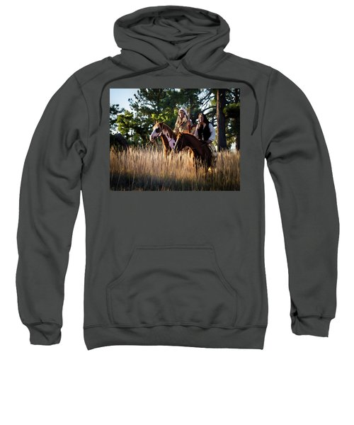 Native Americans On Horses In The Morning Light Sweatshirt