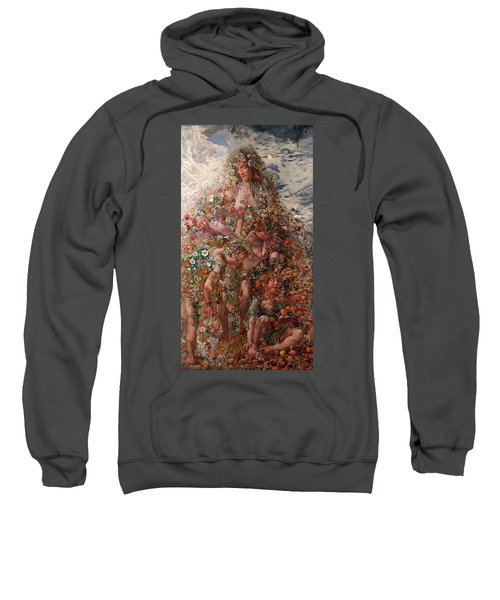Sweatshirt featuring the painting Nature Or Abundance by Leon Frederic