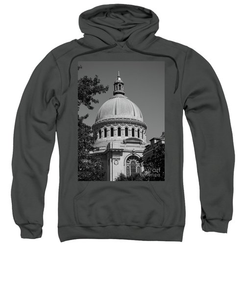 Naval Academy Chapel - Black And White Sweatshirt
