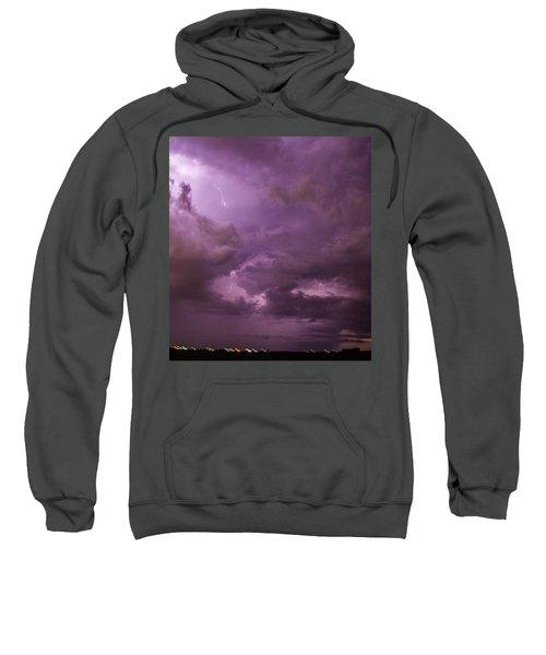 Nebraska Night Thunderstorm Beast 001 Sweatshirt