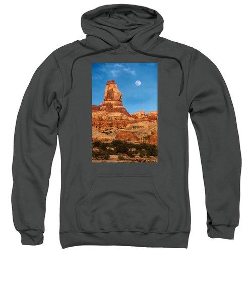 Needles Moonrise At Sunset Sweatshirt