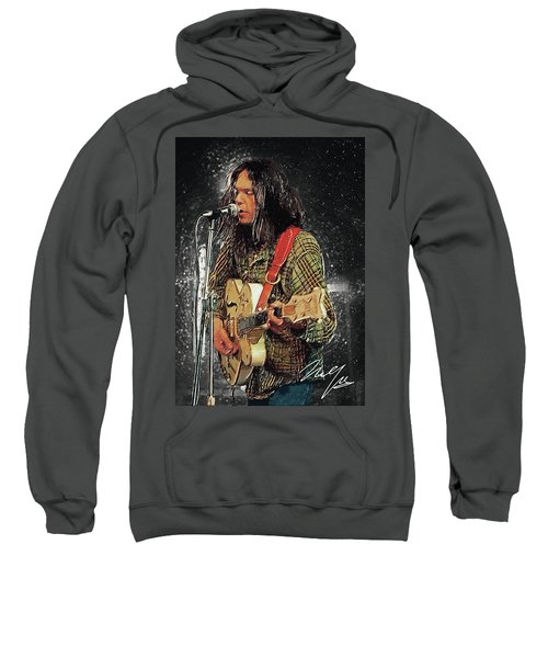 Neil Young Sweatshirt by Taylan Apukovska