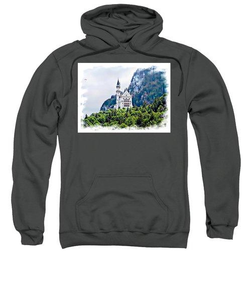Neuschwanstein Castle With A Glider Sweatshirt