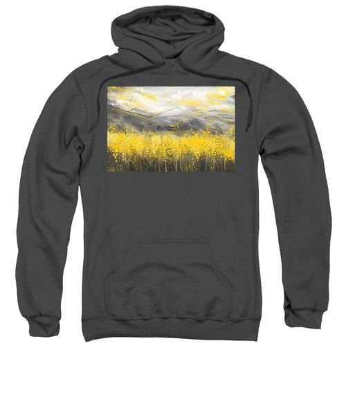 Neutral Sun - Yellow And Gray Art Sweatshirt