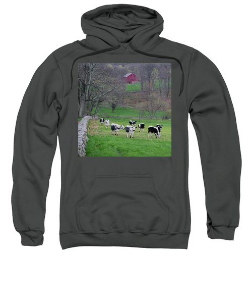 Sweatshirt featuring the photograph New England Spring Pasture Square by Bill Wakeley