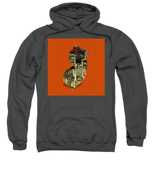 New Jersey Typographic Map 4e Sweatshirt