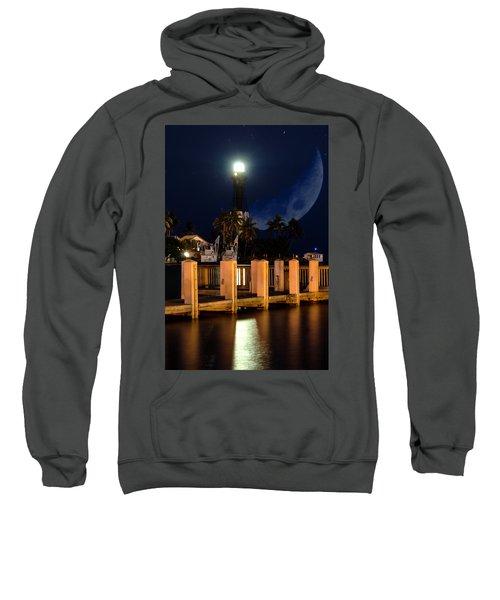 New Moon At Hillsboro Inlet Lighthouse Sweatshirt