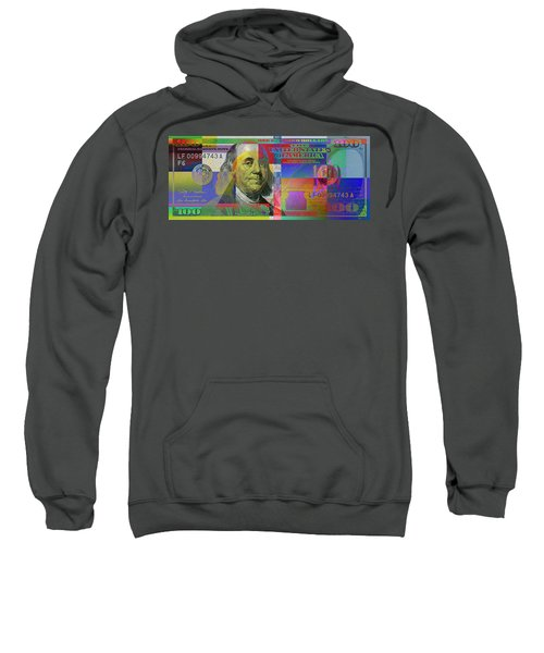 New Pop-colorized One Hundred Us Dollar Bill Sweatshirt by Serge Averbukh