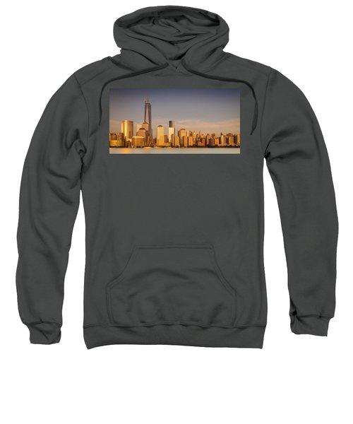 New World Trade Memorial Center And New York City Skyline Panorama Sweatshirt