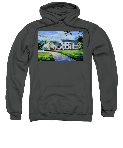 Sweatshirt featuring the painting New York Home Portrait by Hanne Lore Koehler
