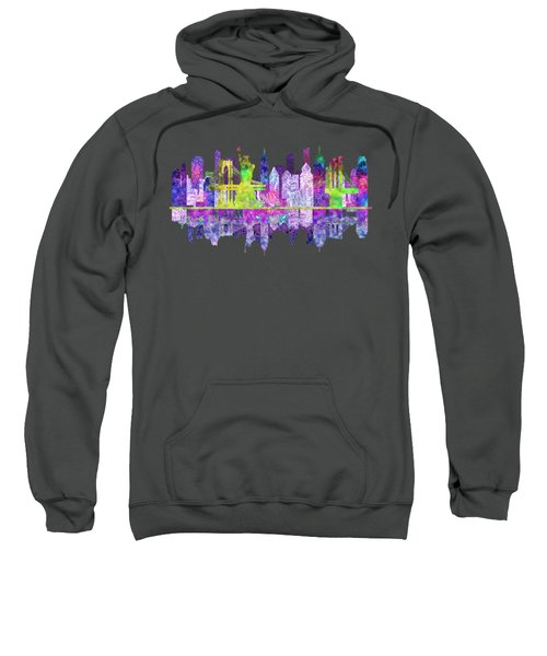 New York Skyline Glowing Sweatshirt by John Groves