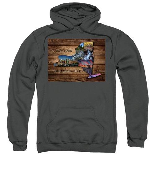 New York State Map Collage Sweatshirt