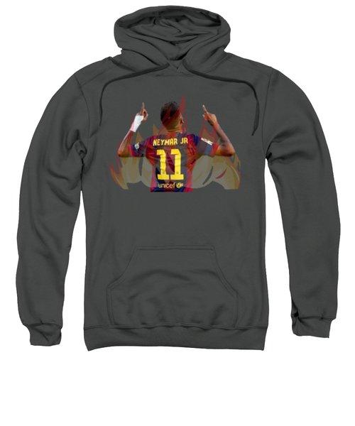 Neymar Sweatshirt by Vincenzo Basile