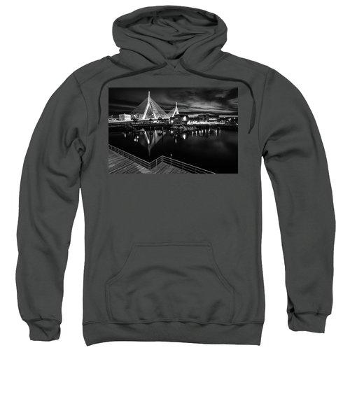 Night Falling On Zakim Bridge Sweatshirt