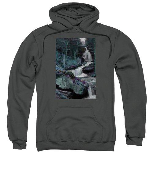 Night Rainbow Waterfall Sweatshirt