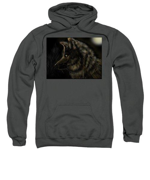 Night Silent Wolf Sweatshirt