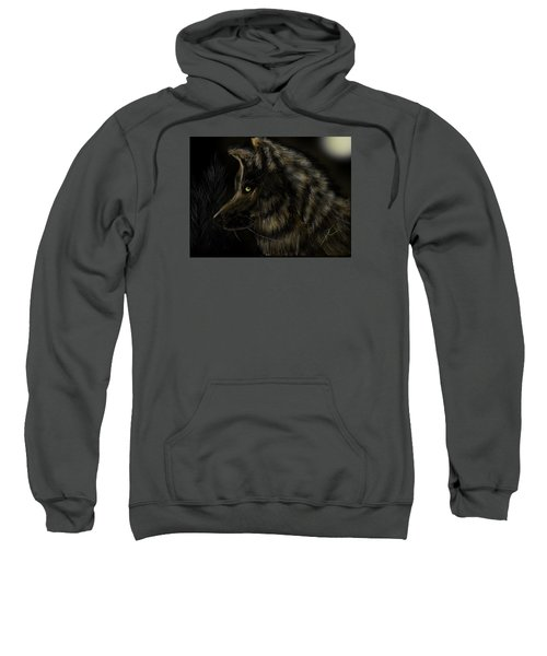 Night Silent Wolf Sweatshirt