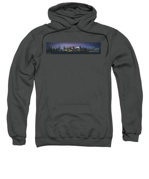 Night View Of Downtown Skyline In Winter Sweatshirt