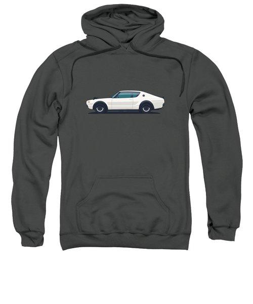 Nissan Skyline Gt-r C110 Side - Plain White Sweatshirt