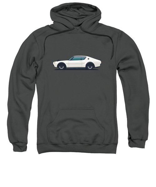 Nissan Skyline Gt-r C110 Side - Plain White Sweatshirt