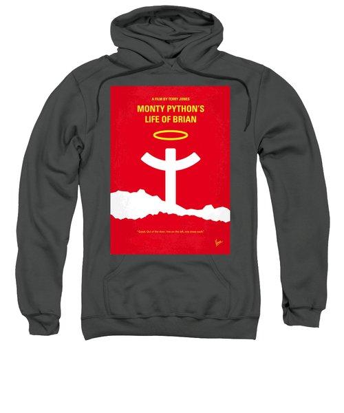 No182 My Monty Python Life Of Brian Minimal Movie Poster Sweatshirt by Chungkong Art