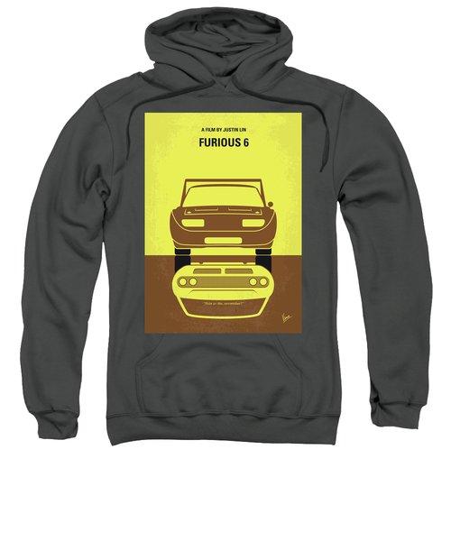 No207-6 My Furious 6 Minimal Movie Poster Sweatshirt