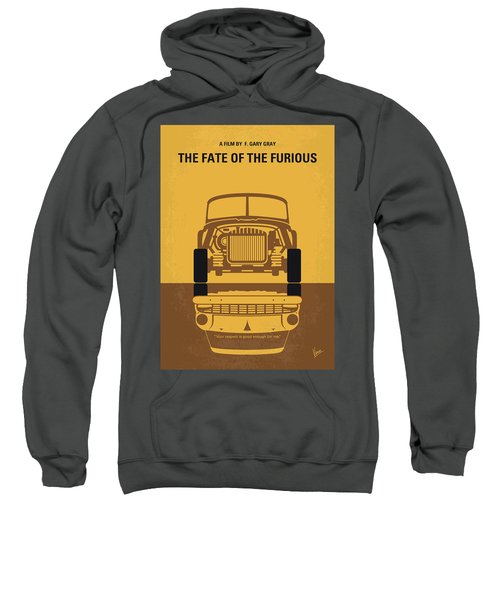 No207-8 My The Fate Of The Furious Minimal Movie Poster Sweatshirt