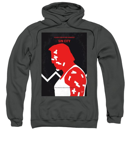 No304-1 My Sin City Minimal Movie Poster Sweatshirt
