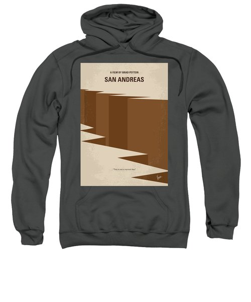 No810 My San Andreas Minimal Movie Poster Sweatshirt