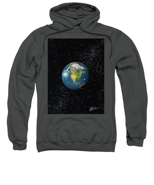 North America, Mexico, Canada As Seen From Space Sweatshirt