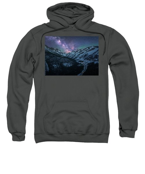 North Cascades Starry Night - Landscape Crop Sweatshirt