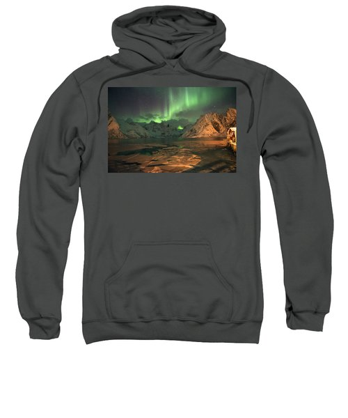 Northern Light In Lofoten, Nordland 1 Sweatshirt