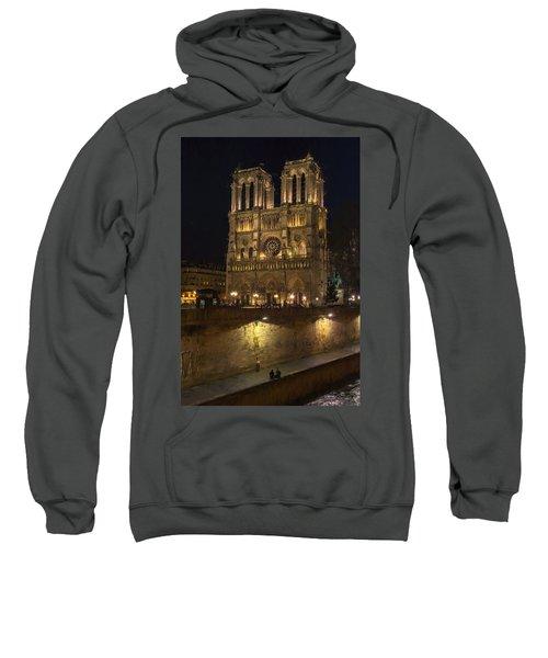 Notre Dame Night Painterly Sweatshirt