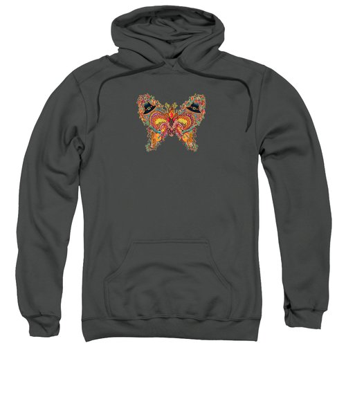 November Butterfly Of The Month Sweatshirt by Laurel Rosenberg