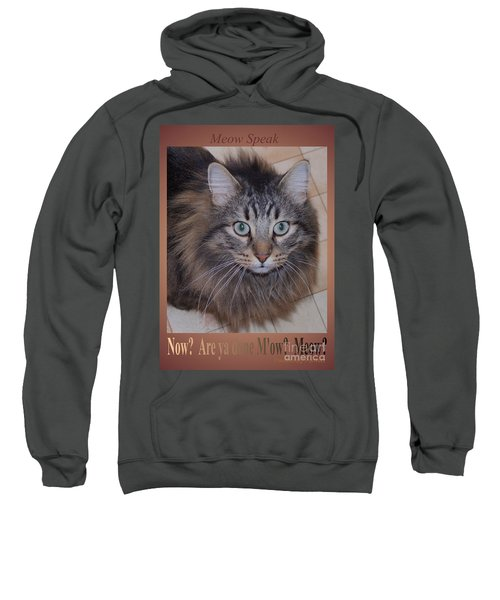 Now? Are You Done M Ow? Meow? Sweatshirt