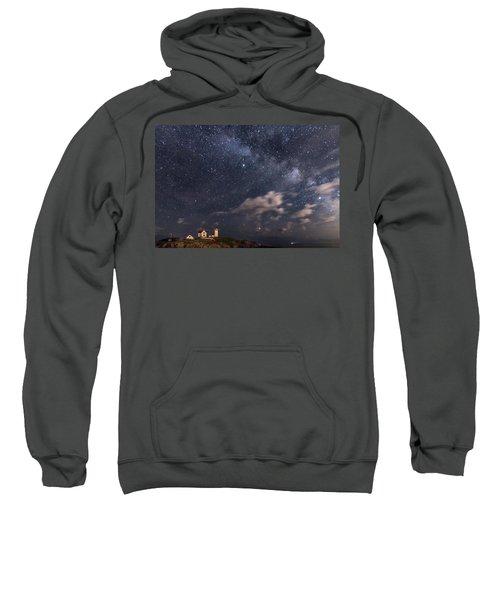 Nubble Lighthouse Under The Milky Way Sweatshirt