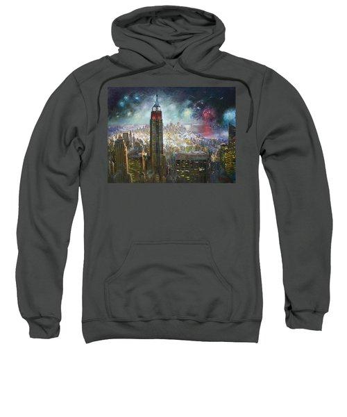 Nyc. Empire State Building Sweatshirt by Ylli Haruni