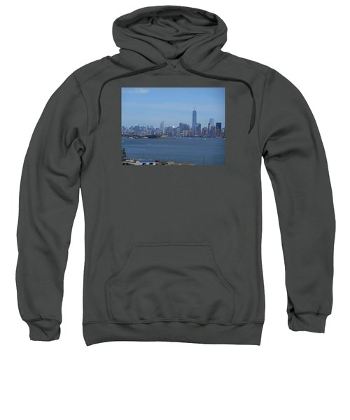 Nyc Skyline Sweatshirt by Kathleen Peck
