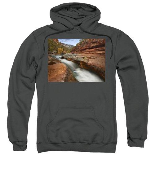 Oak Creek In Slide Rock State Park Sweatshirt